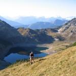 Der Aufstieg zur Roten Wand im Lechquellengebirge ist schön und nicht zu beschwerlich.